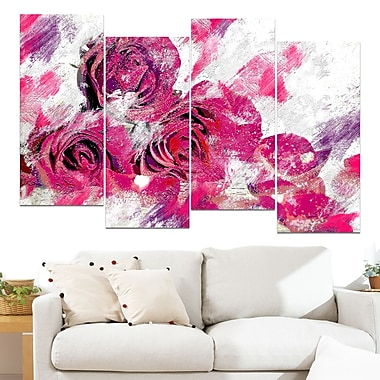 Tulips in Bloom Floral Metal Wall Art, 48x28, 4 Panels, (MT3428-271)