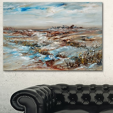 Snowy Landscape Metal Wall Art, 28x12, (MT6002-28-12)