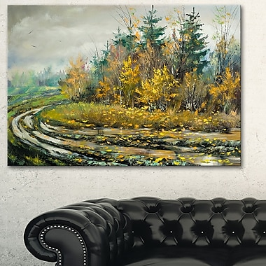 River on a Decline Landscape Metal Wall Art, 28x12, (MT6003-28-12)
