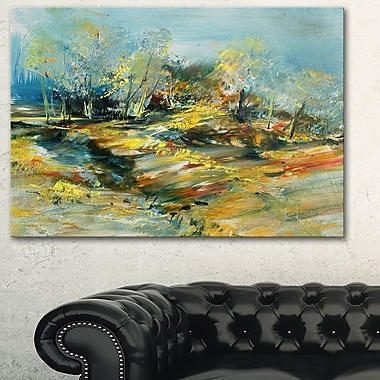 Abstract Landscape Abstract Metal Wall Art, 28x12, (MT6009-28-12)