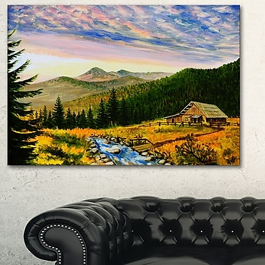Sunset in Mountains Landscape Metal Wall Art, 28x12, (MT6010-28-12)