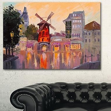 Moulin Rouge à Paris, art mural en métal, 28 x 12, (MT6011-28-12)