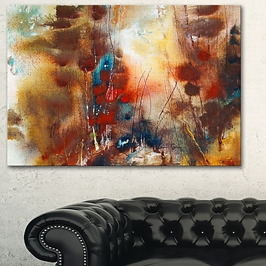 Artistic Brown Abstract Metal Wall Art, 28x12, (MT6013-28-12)