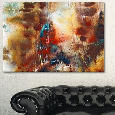 Art mural en métal, abstrait, brun artistique, 28 x 12 (MT6013-28-12)
