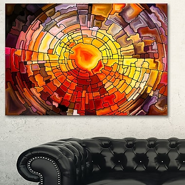 Return of Stained Glass Contemporary Metal Wall Art, 28x12, (MT6014-28-12)
