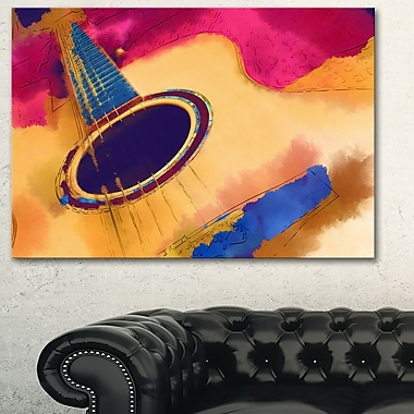 Listen to the Colourful Music Music Metal Wall Art, 28x12, (MT6018-28-12)