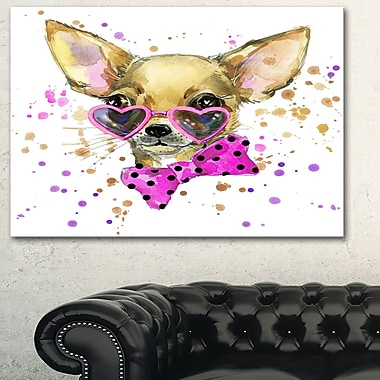 Puppy Dog in WaterColour Animal Metal Wall Art, 28x12, (MT6035-28-12)