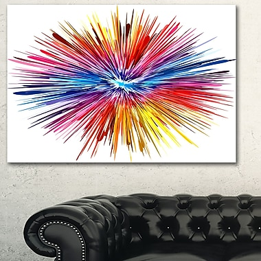Colour Explosion Abstract Metal Wall Art, 28x12, (MT6036-28-12)