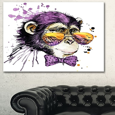 Cool Monkey Animal Metal Wall Art, 28x12, (MT6037-28-12)