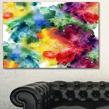Abstract WaterColour Texture Abstract Metal Wall Art, 28x12, (MT6038-28-12)