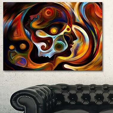 Perspectives of Inner Paint Abstract Metal Wall Art, 28x12, (MT6042-28-12)