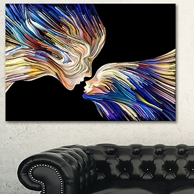 Metaphorical Mind Painting SENSUAL Metal Wall Art, 28x12, (MT6047-28-12)