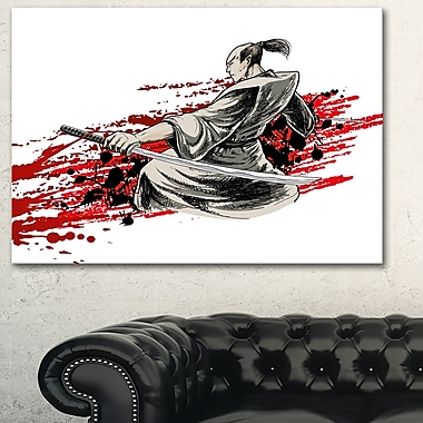 Japan Warrior Japanese Metal Wall Art, 28x12, (MT6049-28-12)
