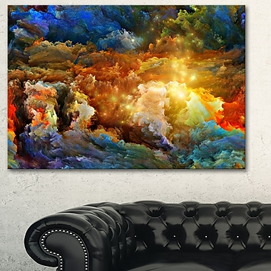 Art mural abstrait en métal, assortiment de couleurs, 28 x 12 po, (MT6059-28-12)
