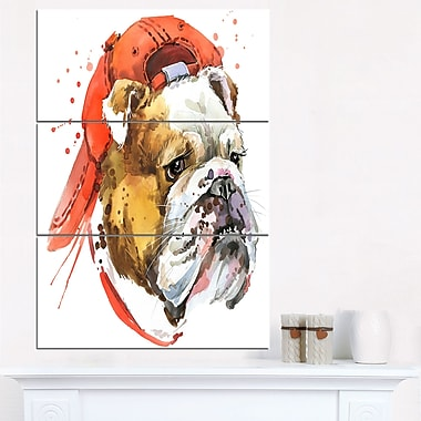 Bulldog Illustration Animal Metal Wall Art