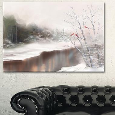 Snowy Silence Landscape Metal Wall Art, 28x12, (MT6067-28-12)