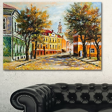 Ancient Vitebsk in Autumn Landscape Metal Wall Art, 28x12, (MT6082-28-12)