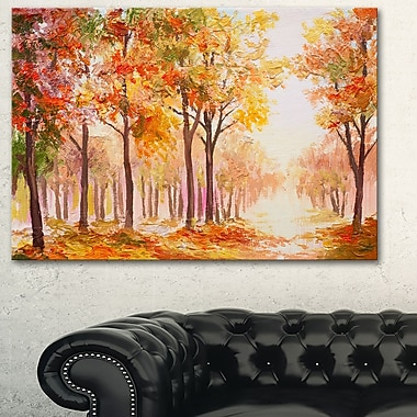 Autumn Everywhere Forest Landscape Metal Wall Art, 28x12, (MT6100-28-12)