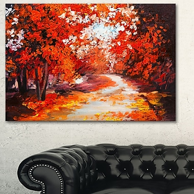 Forest in the Fall Landscape Metal Wall Art, 28x12, (MT6106-28-12)