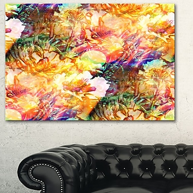 Bokeh Flowers Seamless Floral Metal Wall Art, 28x12, (MT6107-28-12)