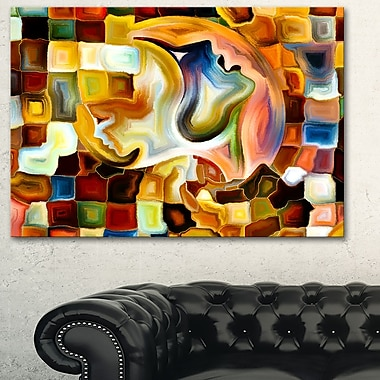 Way of Inner Paint Abstract Metal Wall Art, 28x12, (MT6113-28-12)