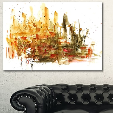 Abstract Composition Art, Abstract Metal Wall Art, 28x12, (MT6127-28-12)