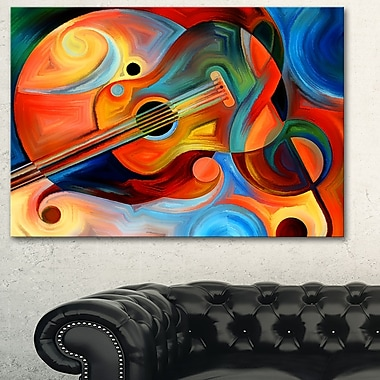 Music and Rhythm Abstract Metal Wall Art, 28x12, (MT6138-28-12)