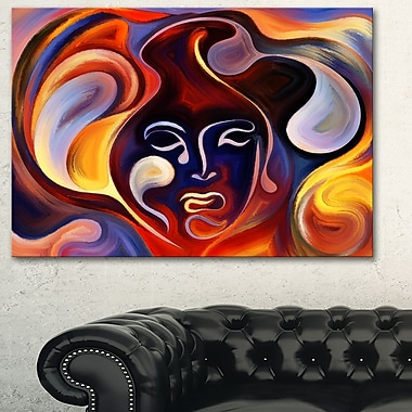 Waves of Thought Abstract Large Metal Wall Art, 28x12, (MT6141-28-12)