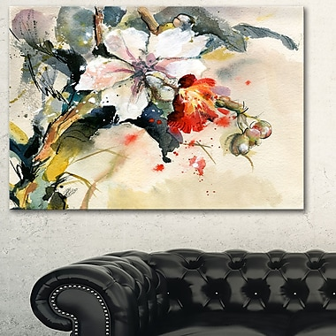 Orchid in Bloom Floral Metal Wall Art, 28x12, (MT6144-28-12)