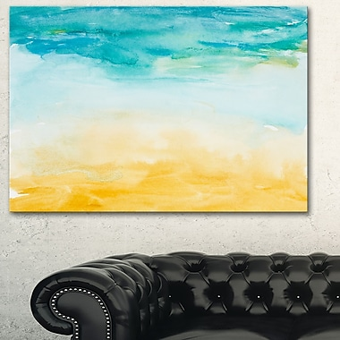 Soil and Sky Strokes Landscape Metal Wall Art, 28x12, (MT6145-28-12)
