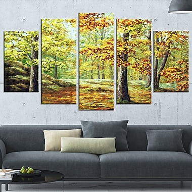 Autumn Wood Landscape Metal Wall Art