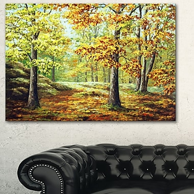 Autumn Wood Landscape Metal Wall Art, 28x12, (MT6149-28-12)