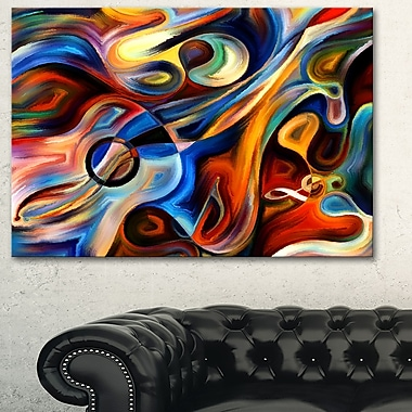 Abstract Music and Rhythm Abstract Metal Wall Art, 28x12, (MT6152-28-12)