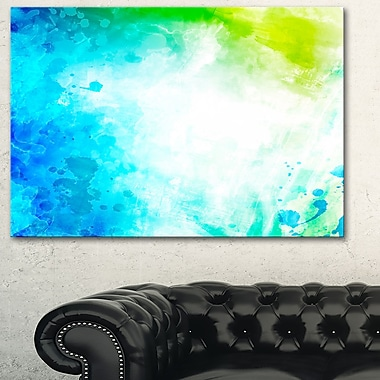 Abstract WaterColour Art, Abstract Metal Wall Art, 28x12, (MT6153-28-12)