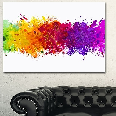 Artistic WaterColour Splash Abstract Metal Wall Art, 28x12, (MT6164-28-12)