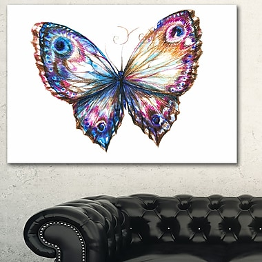 Isolated Butterfly Animal Metal Wall Art, 28x12, (MT6165-28-12)