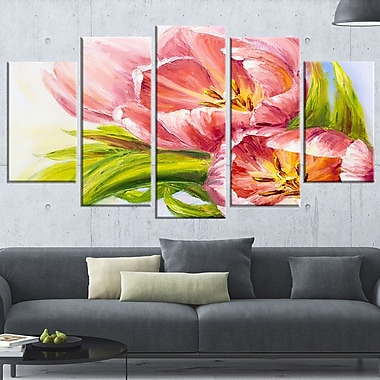 Tulips Flowers Floral Metal Wall Art