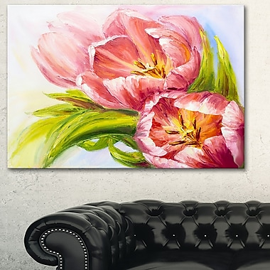 Tulips Flowers Floral Metal Wall Art, 28x12, (MT6174-28-12)