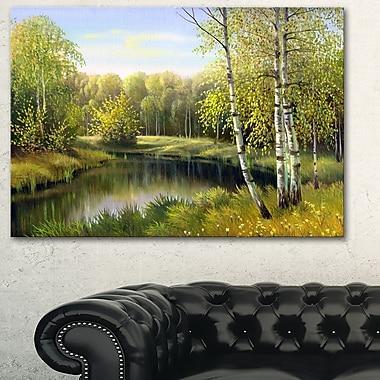 Art mural en métal, paysage, rivière automnale tranquille, 28 x 12 po, (MT6177-28-12)
