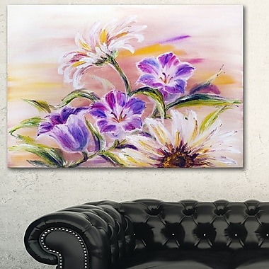 Purple Wildflowers Floral Metal Wall Art, 28x12, (MT6188-28-12)