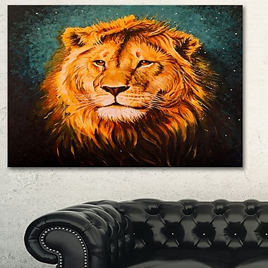 The Lion of Judah Animal Metal Wall Art, 28x12, (MT6190-28-12)