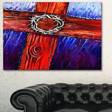 Crown of Thorns Abstract Metal Wall Art, 28x12, (MT6193-28-12)