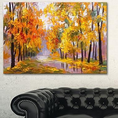 Full of Fallen Leaves Landscape Metal Wall Art, 28x12, (MT6202-28-12)