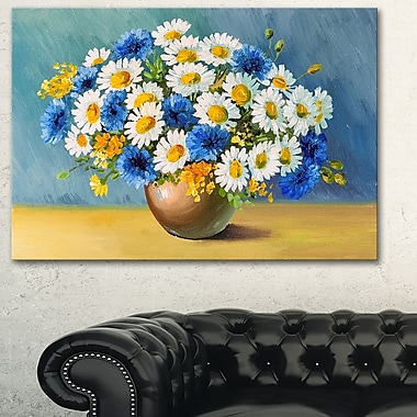 Bouquet of Spring Flowers Floral Metal Wall Art, 28x12, (MT6230-28-12)