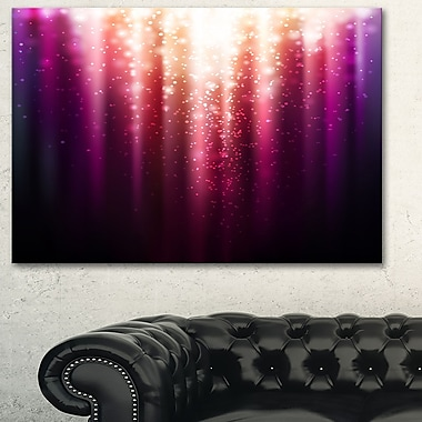 Purple with Magic Light Abstract Metal Wall Art, 28x12, (MT6254-28-12)