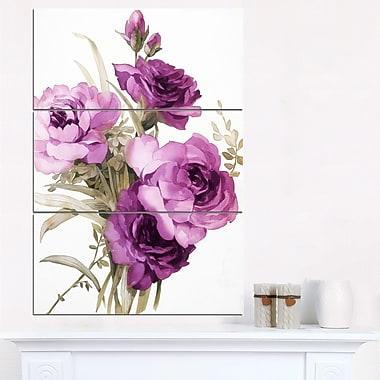Bunch of Purple Flowers Floral Metal Wall Art