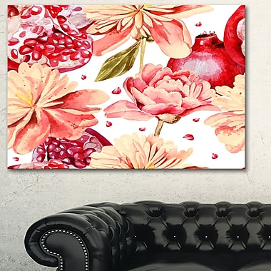 Flowers beyond the Edges Floral Metal Wall Art, 28x12, (MT6259-28-12)
