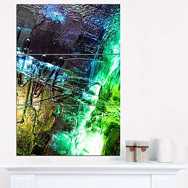 Green, Blue Abstract Structure Metal Wall Art