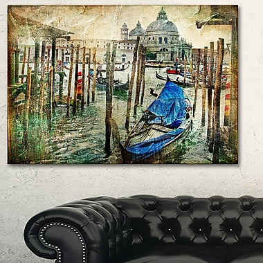 Beautiful Venice Landscape Metal Wall Art, 28x12, (MT6266-28-12)