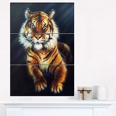 Mighty Tiger Animal Metal Wall Art, 28x36, 3 Panels, (MT6272-28-36)